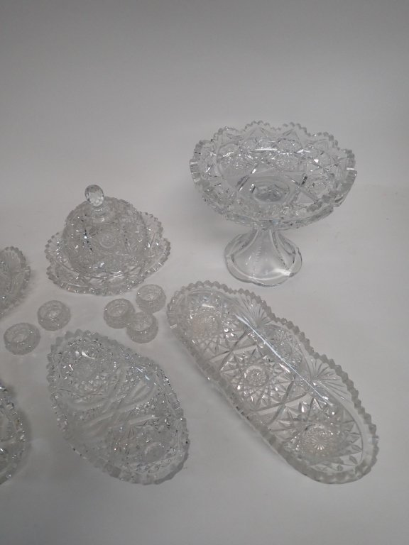 15 Piece Cut Crystal Serving Ware - 5