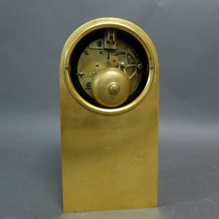 French Empire Bronze Library Form Mantle Clock - 8