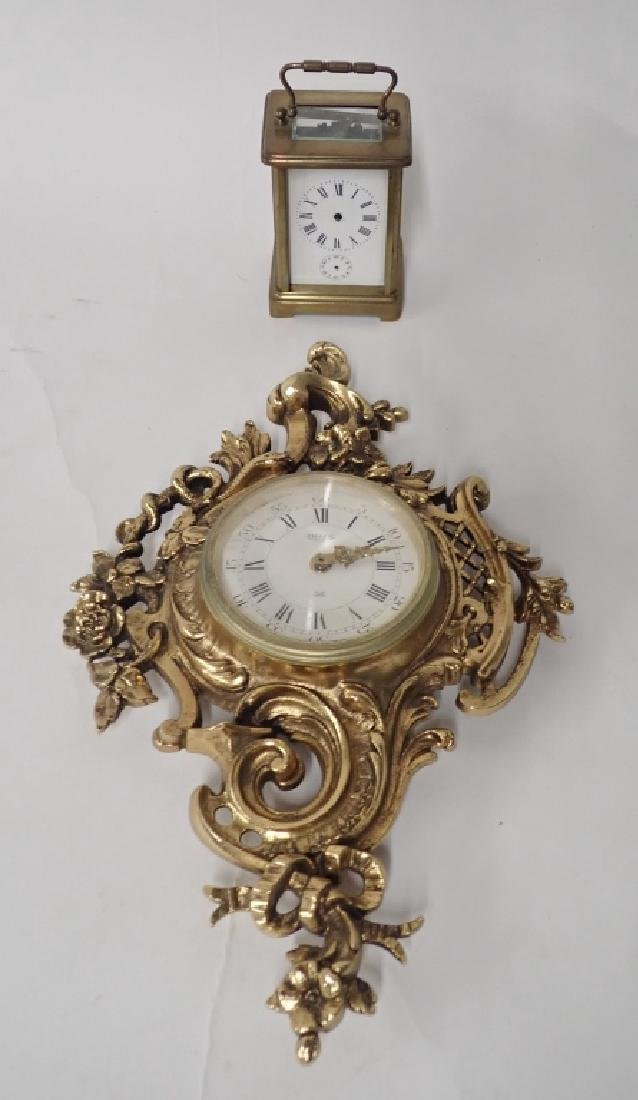 Two French Bronze Vintage Clocks