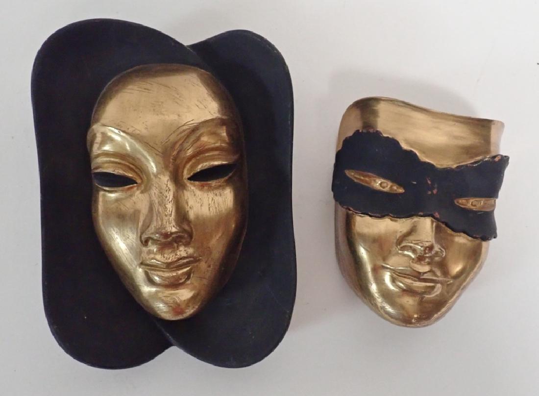 Pair of German Wall Masks