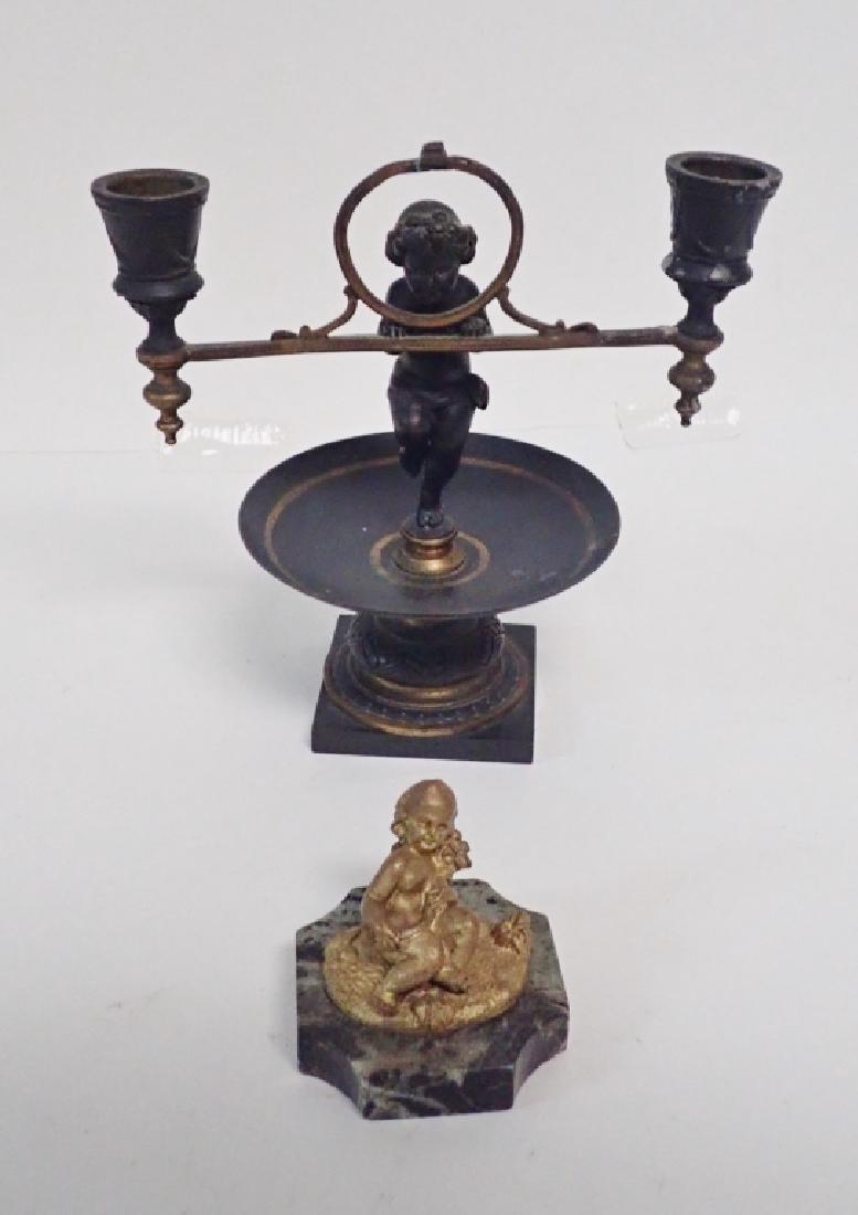 Bronze Cherub Table Top Accessories