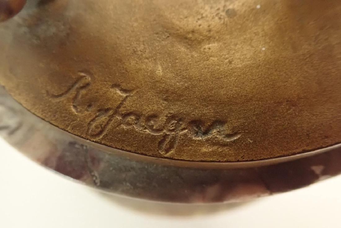 """R. Jaeger"" Signed Bronze on Marble Base - 5"