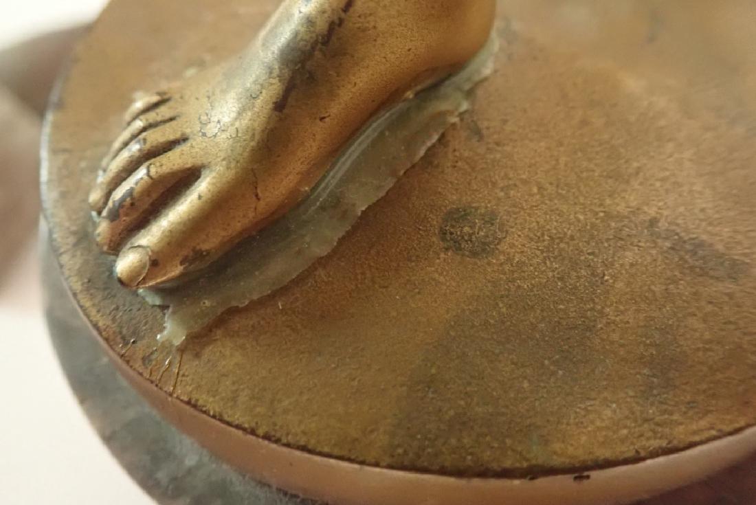 """R. Jaeger"" Signed Bronze on Marble Base - 8"