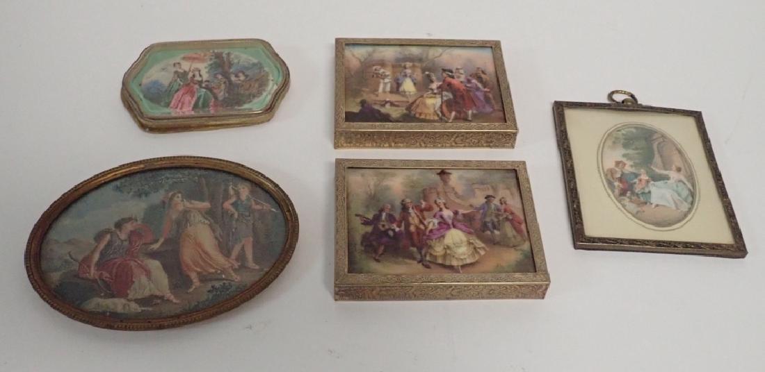 Framed Porcelain Plaque Collection - 10