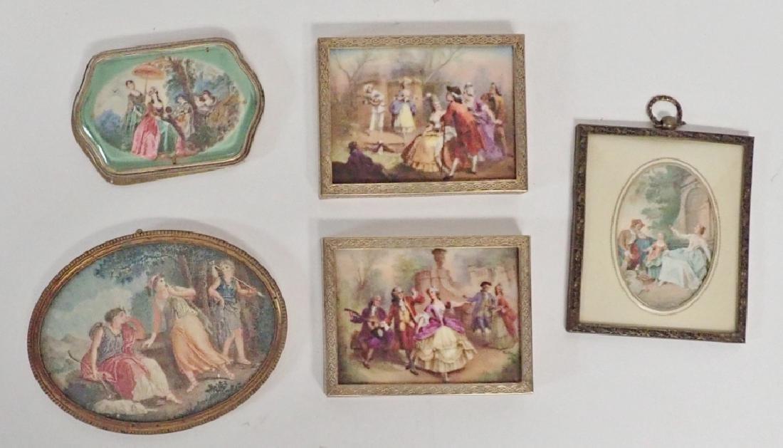Framed Porcelain Plaque Collection