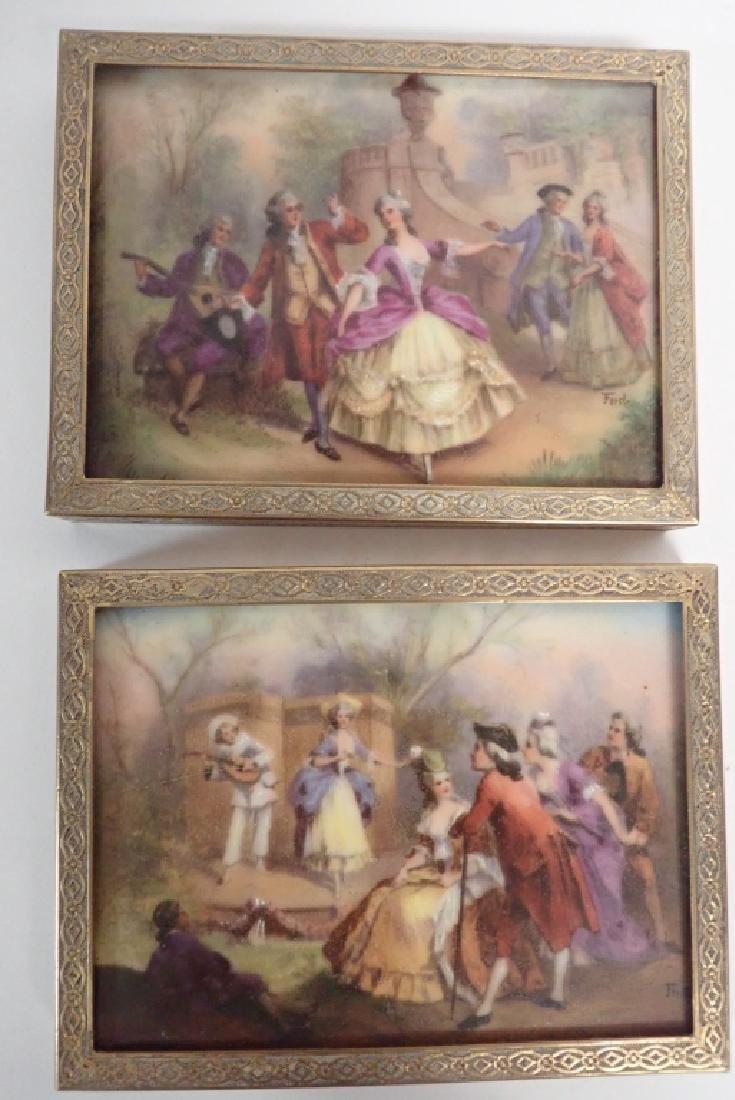 Framed Porcelain Plaque Collection - 4