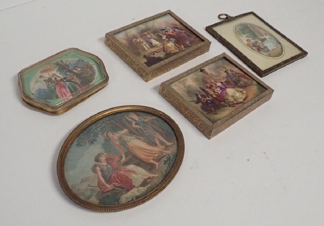 Framed Porcelain Plaque Collection - 8