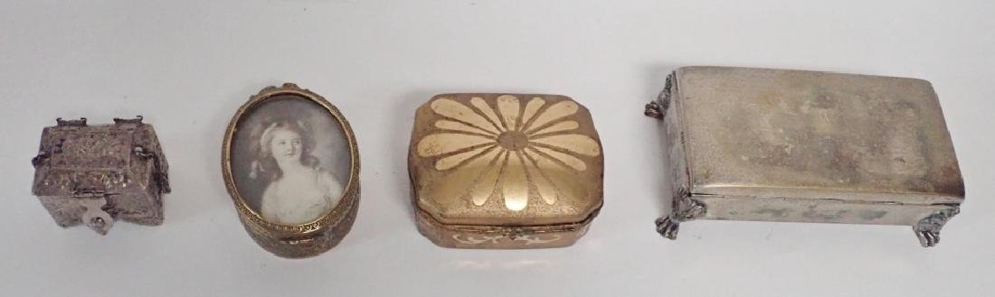 Four Assorted Decorative Metal Boxes - 10