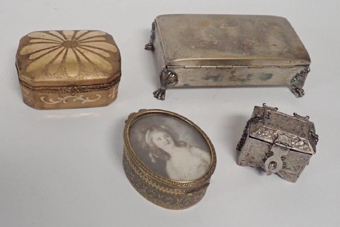 Four Assorted Decorative Metal Boxes