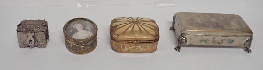 Four Assorted Decorative Metal Boxes - 2
