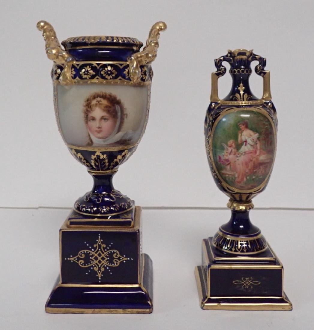 Set of Two Small Porcelain Urns