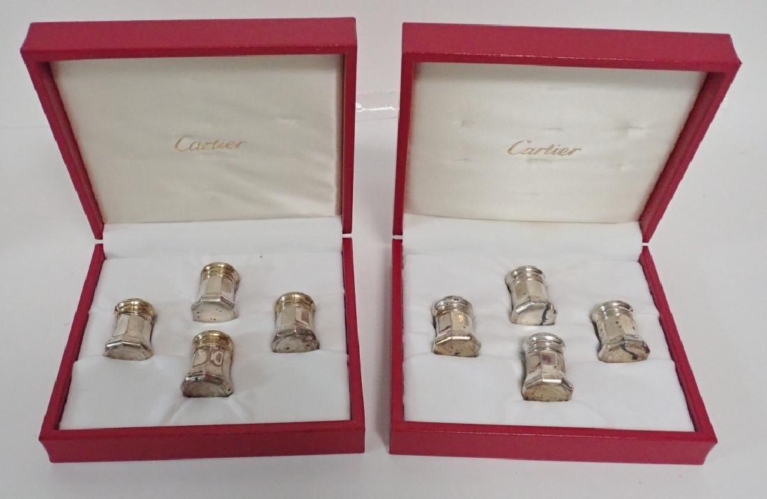 Vintage Cartier Sterling Silver Salt & Pepper Sets