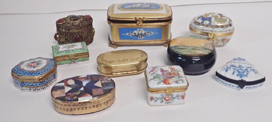 Collection of Hand Painted Porcelain Boxes - 10