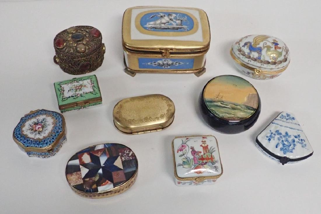 Collection of Hand Painted Porcelain Boxes