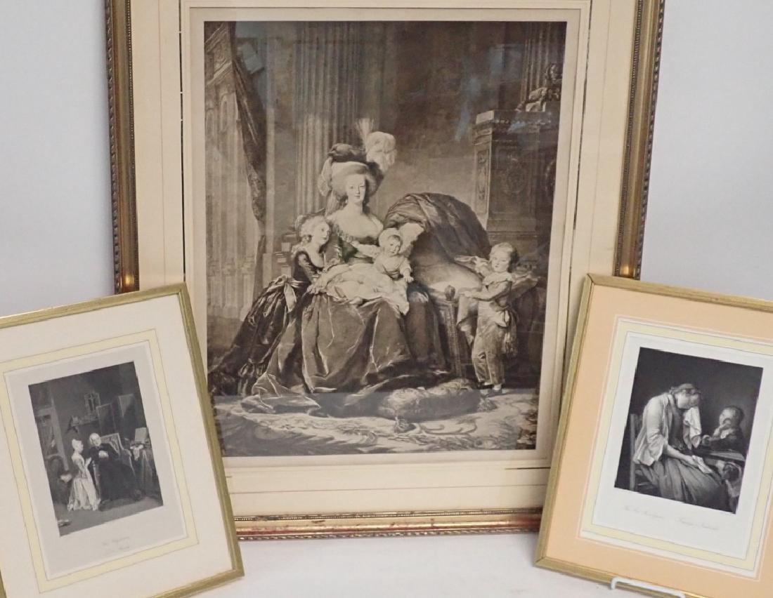 Framed Vintage Engraving Trio - 10