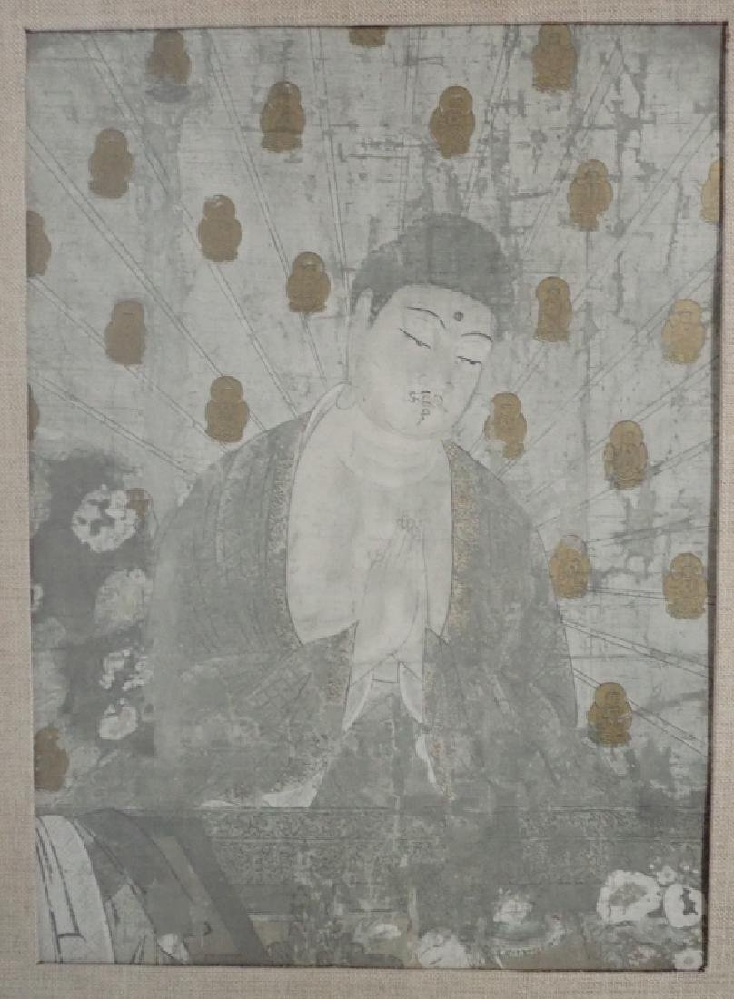 Four Matted Asian Prayer Prints in one Frame - 3