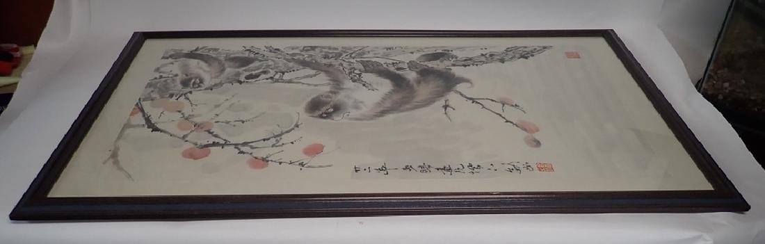 Chinese Watercolor Scroll Painting of Monkeys - 7