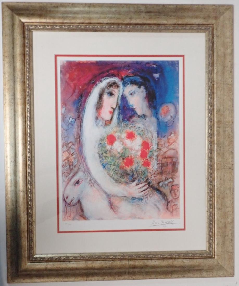 """Marc Chagall (1887-1985) """"Marriage"""" Signed Giclee - 10"""