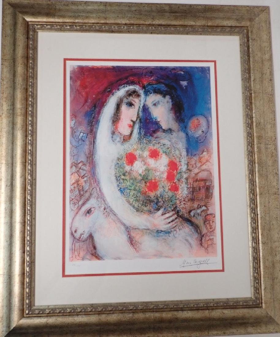 """Marc Chagall (1887-1985) """"Marriage"""" Signed Giclee"""