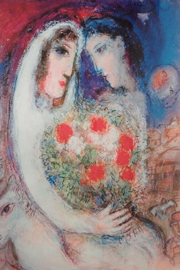 """Marc Chagall (1887-1985) """"Marriage"""" Signed Giclee - 3"""