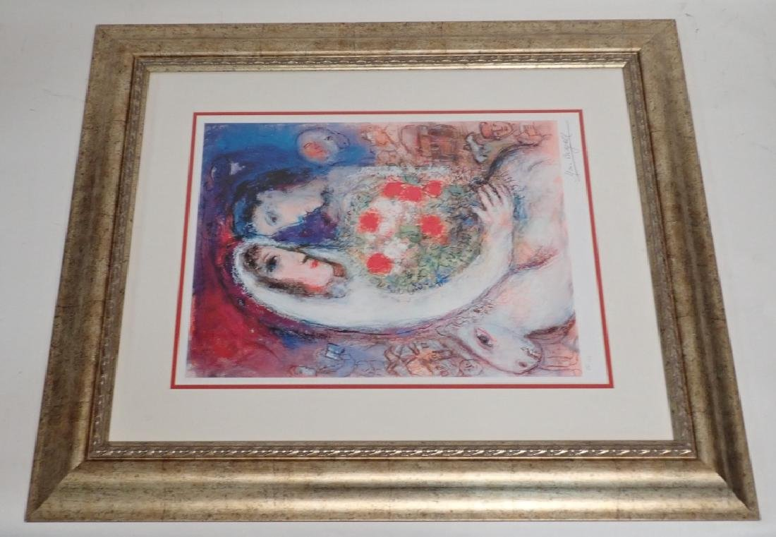 """Marc Chagall (1887-1985) """"Marriage"""" Signed Giclee - 9"""