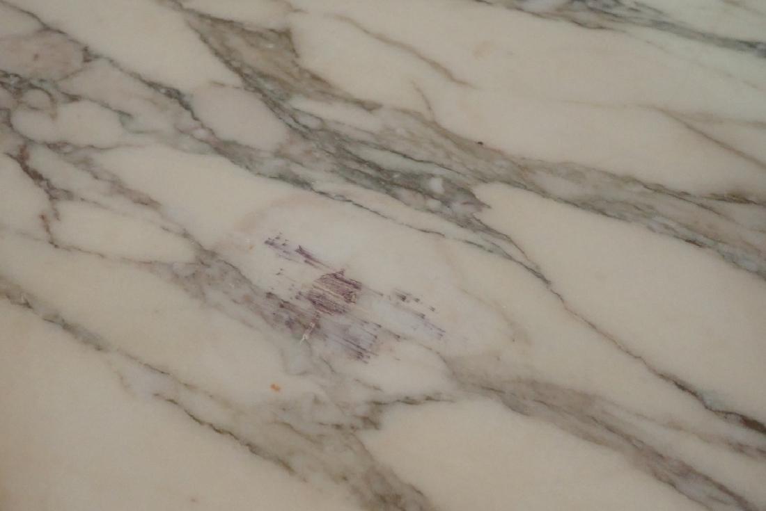 Marble Top Louis XVI Style Walnut Sideboard - 10
