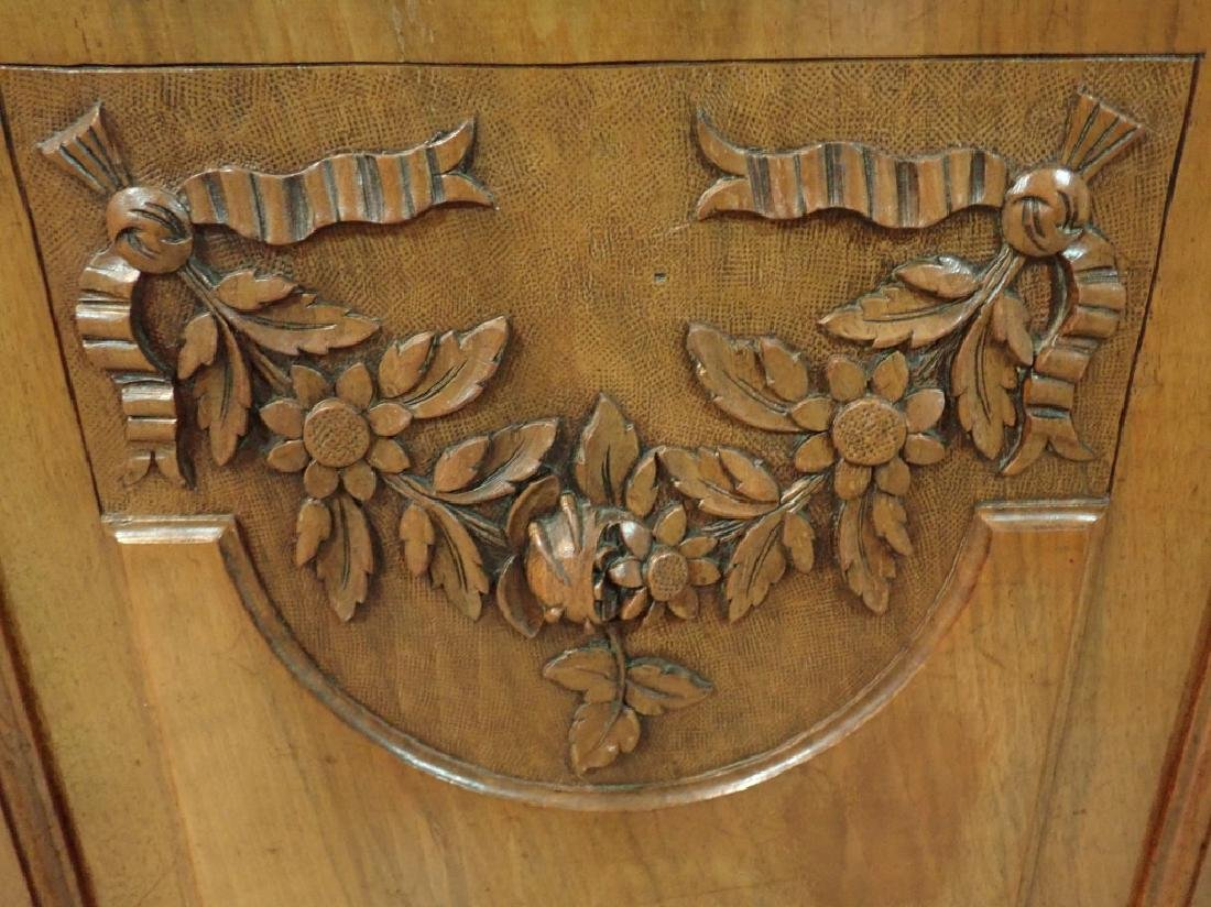 Marble Top Louis XVI Style Walnut Sideboard - 9