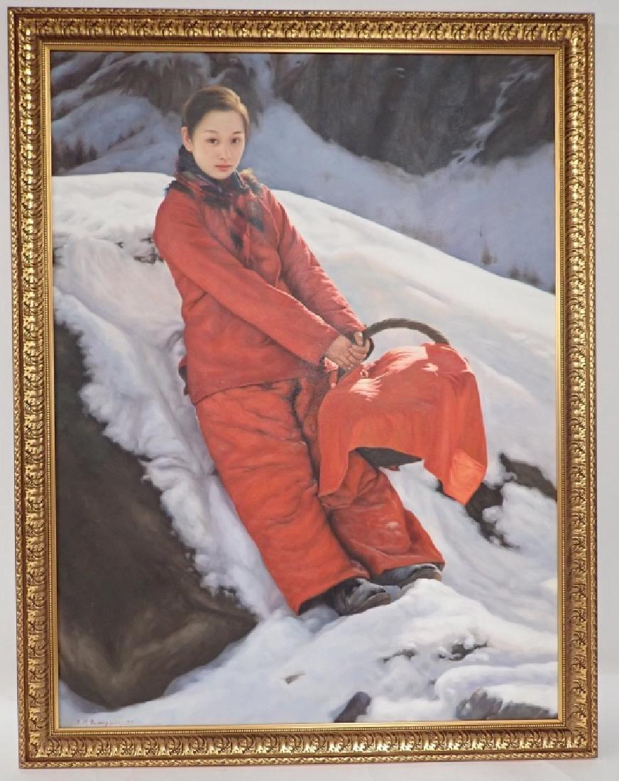 Yidong Wang (China) Large Oil Painting