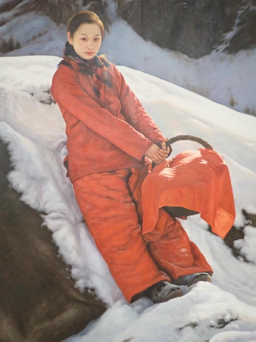 Yidong Wang (China) Large Oil Painting - 2