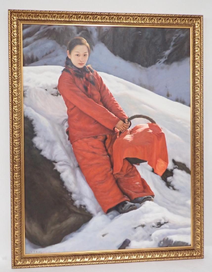 Yidong Wang (China) Large Oil Painting - 5