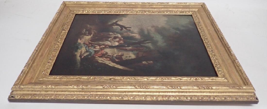 Italian School 18th/19th Century Wooded Scene O/C - 2