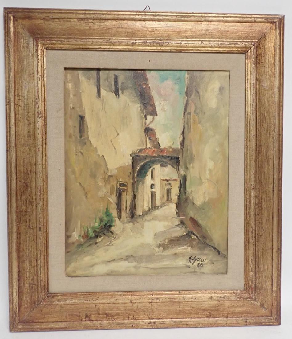"""Roberto Greco """"Paesaggio Toscano 1986"""" O/C"""