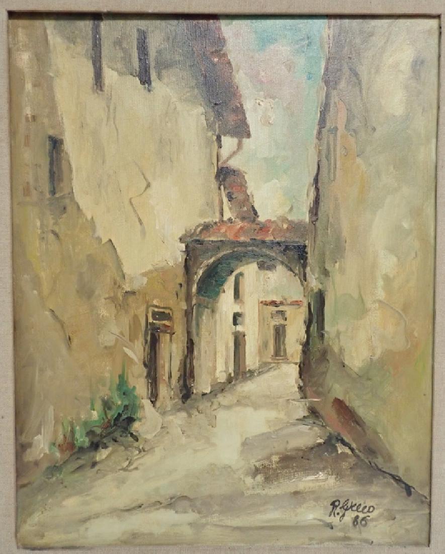 """Roberto Greco """"Paesaggio Toscano 1986"""" O/C - 2"""