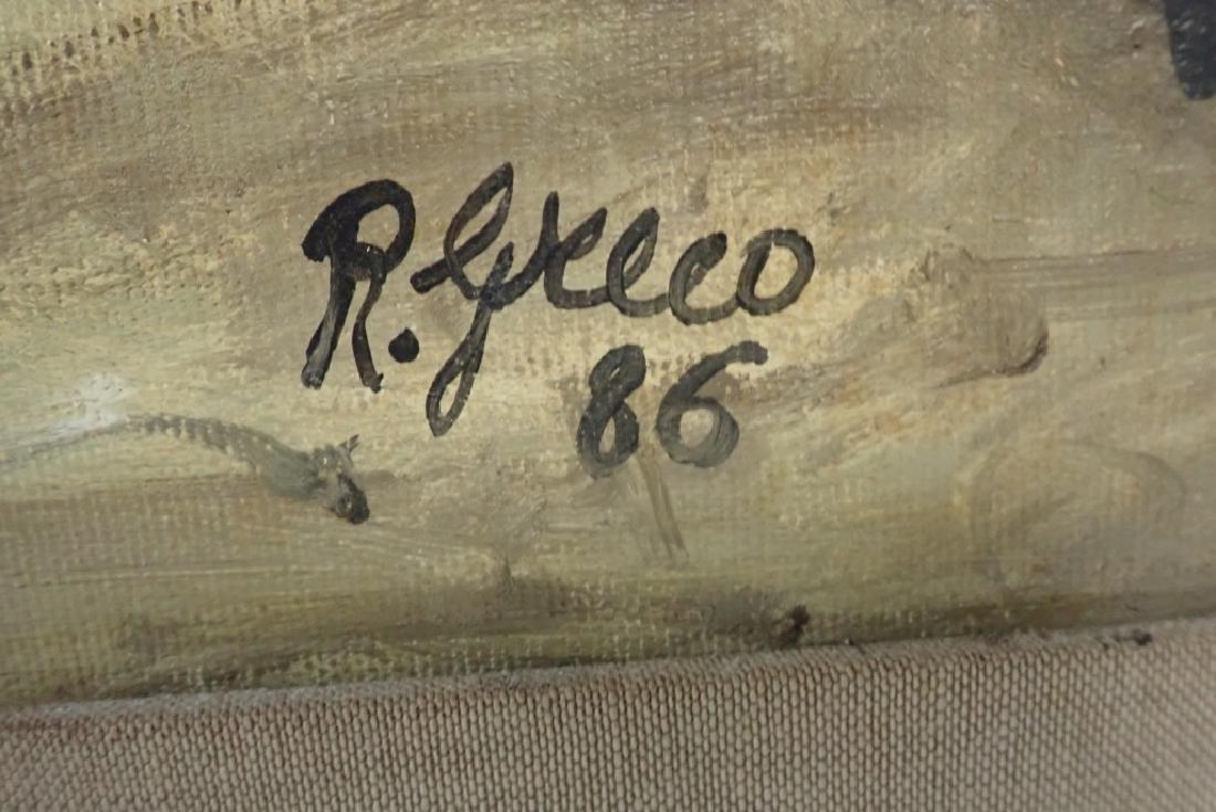 """Roberto Greco """"Paesaggio Toscano 1986"""" O/C - 3"""