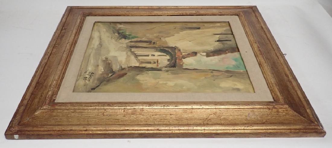 """Roberto Greco """"Paesaggio Toscano 1986"""" O/C - 4"""
