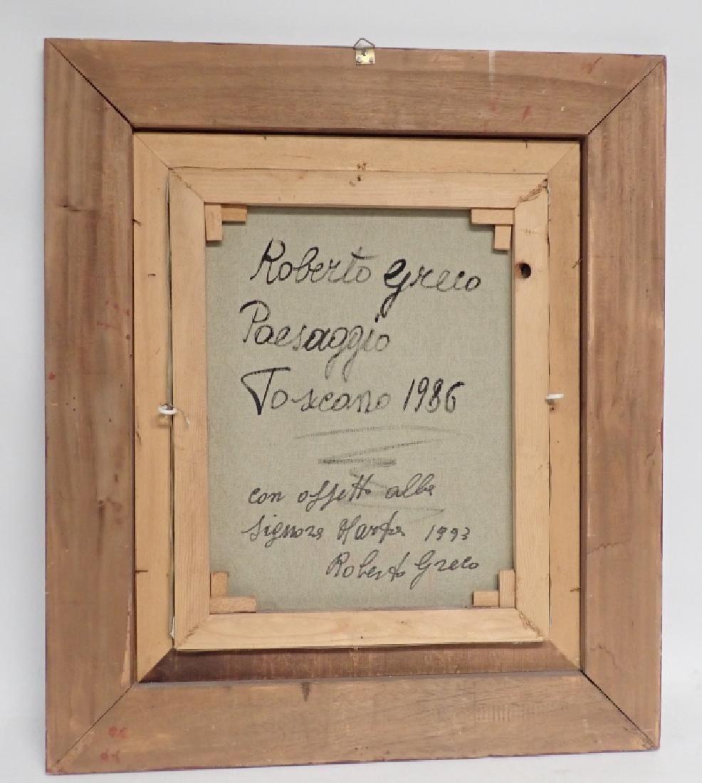 """Roberto Greco """"Paesaggio Toscano 1986"""" O/C - 6"""