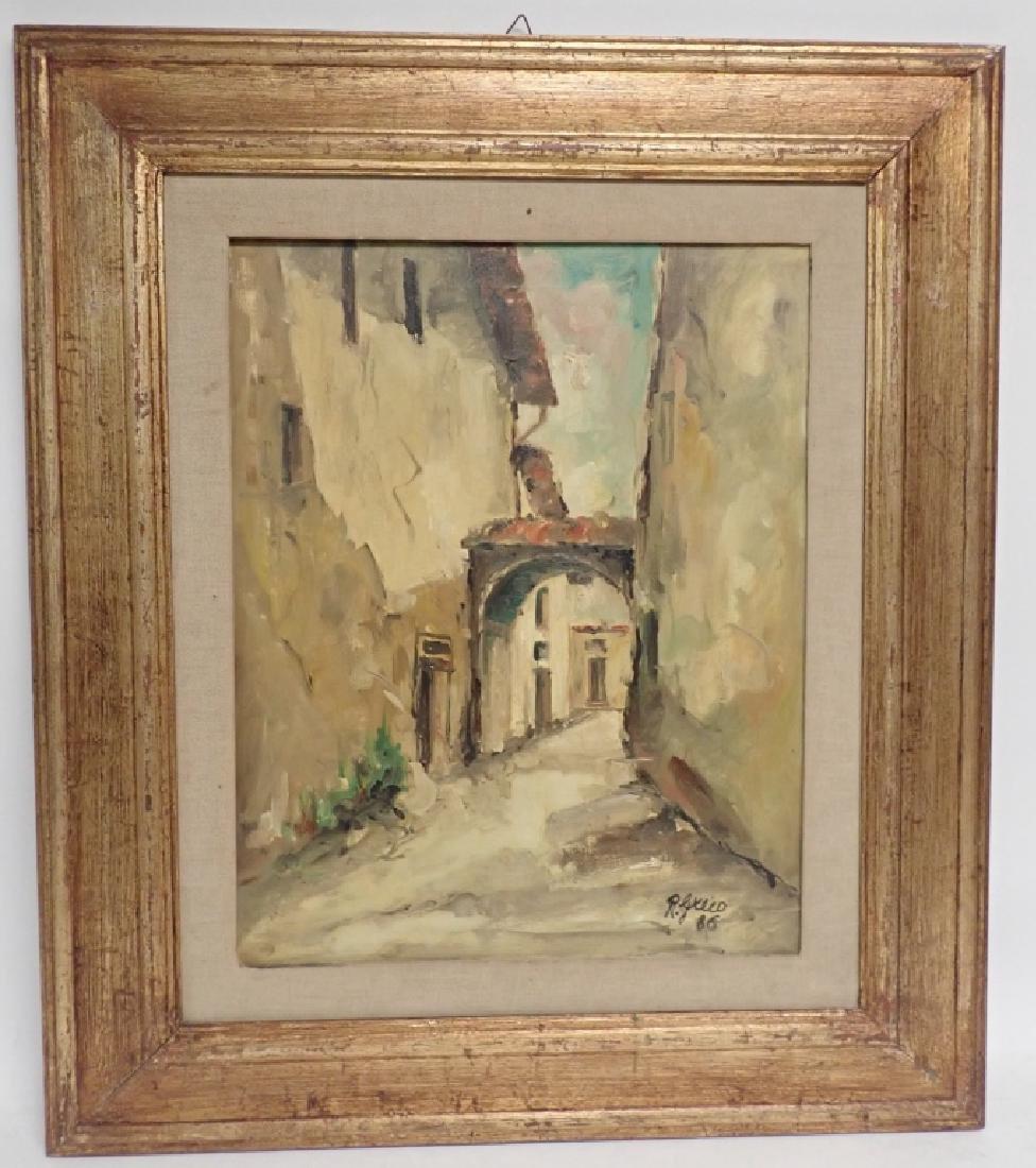 """Roberto Greco """"Paesaggio Toscano 1986"""" O/C - 7"""