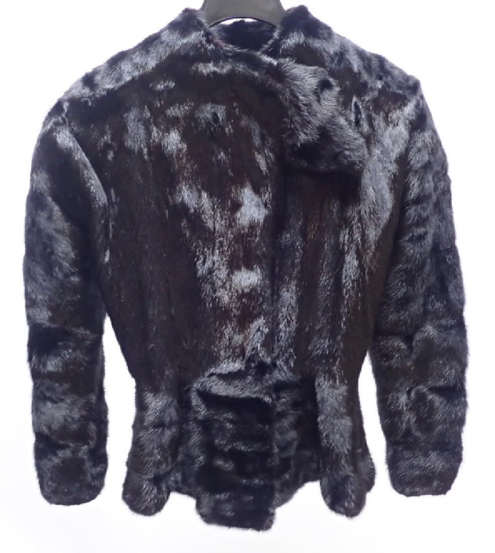Vintage Claude Montana Black Fur Coat - 10