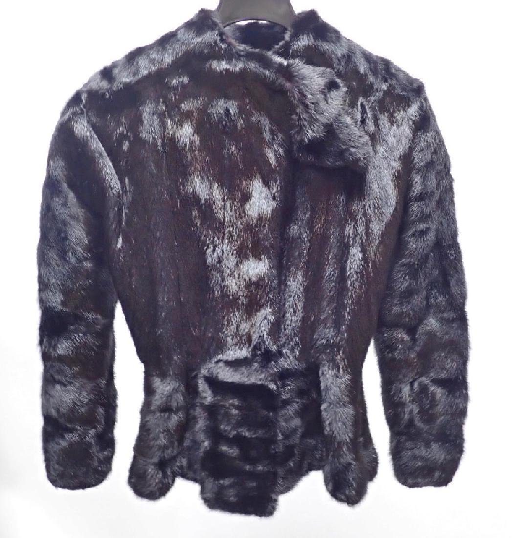 Vintage Claude Montana Black Fur Coat