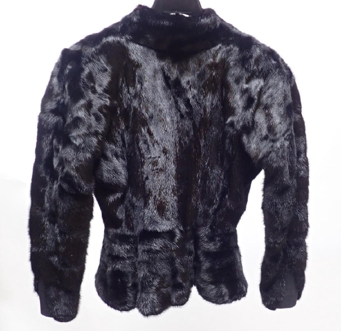 Vintage Claude Montana Black Fur Coat - 2