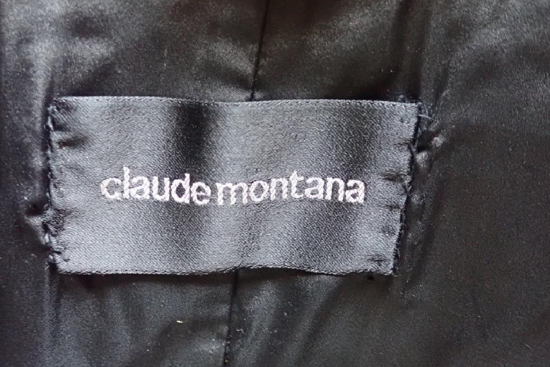 Vintage Claude Montana Black Fur Coat - 3