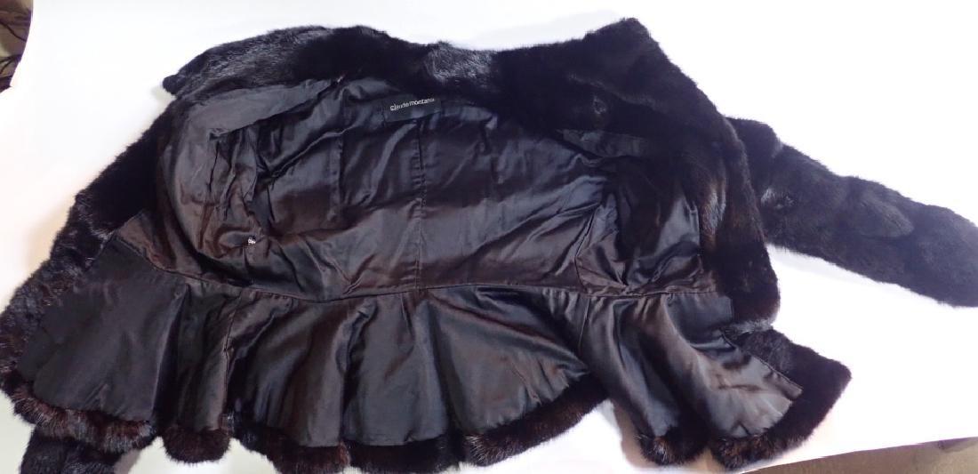 Vintage Claude Montana Black Fur Coat - 6