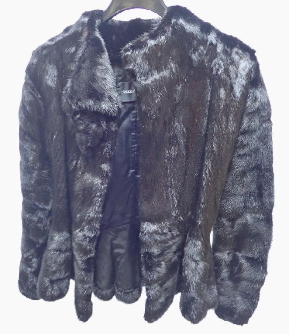 Vintage Claude Montana Black Fur Coat - 8