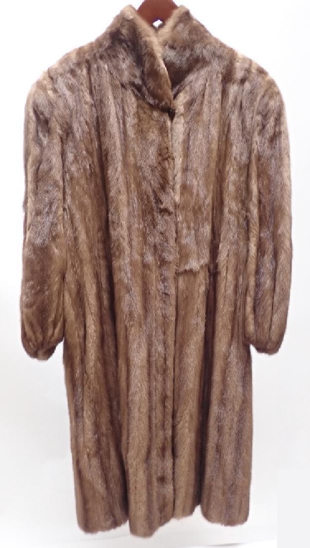 Vintage Woman's Long Fur Coat