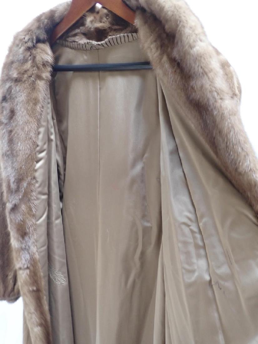 Vintage Woman's Long Fur Coat - 7