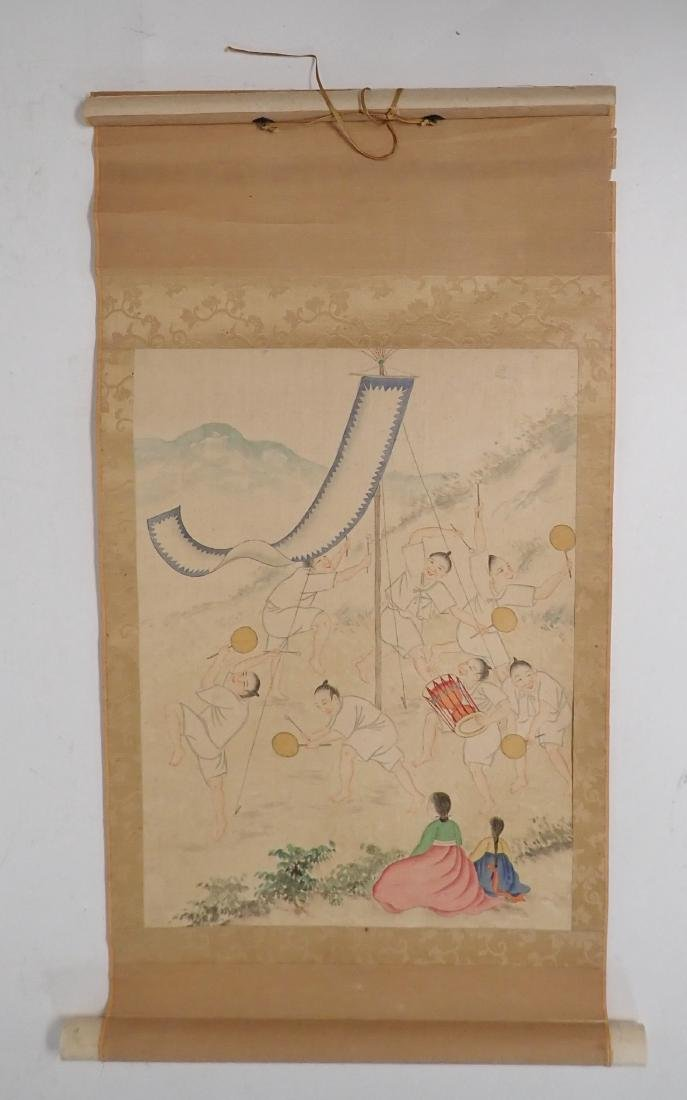 Asian Figural Scroll Painting - 10
