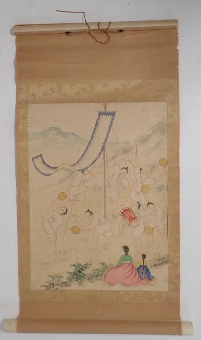 Asian Figural Scroll Painting