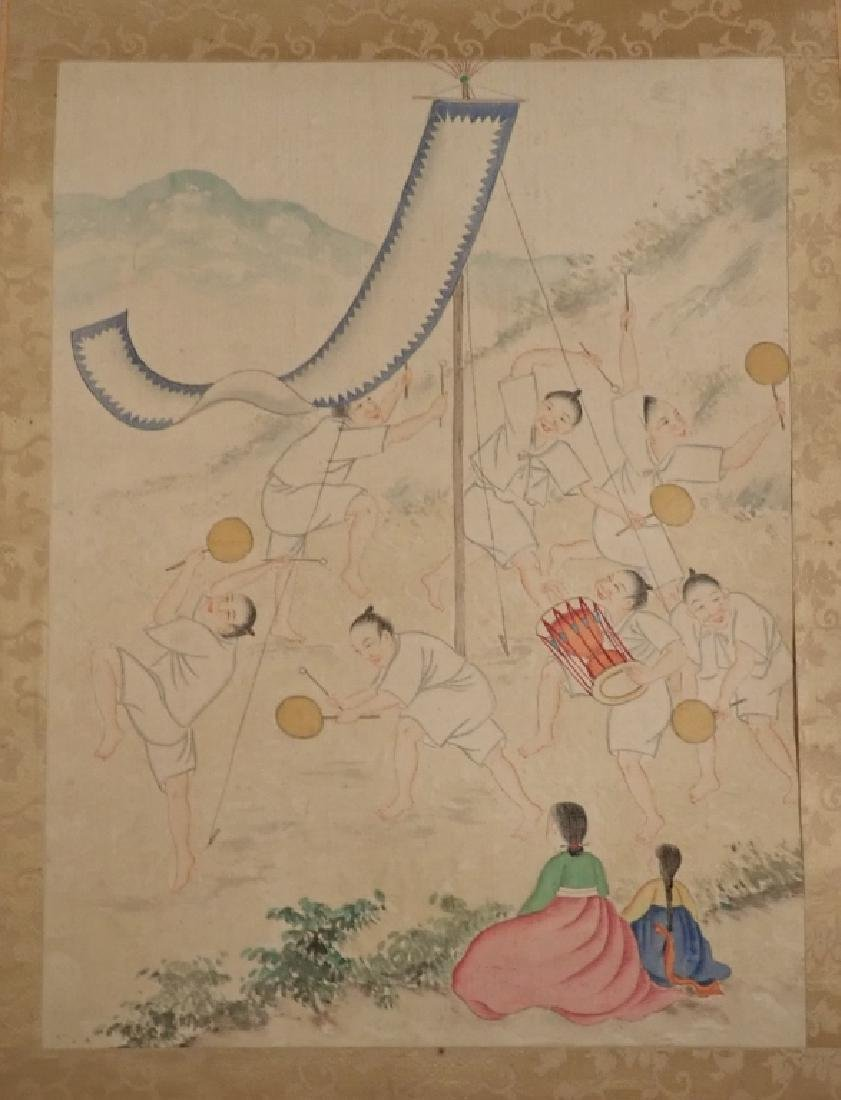 Asian Figural Scroll Painting - 2