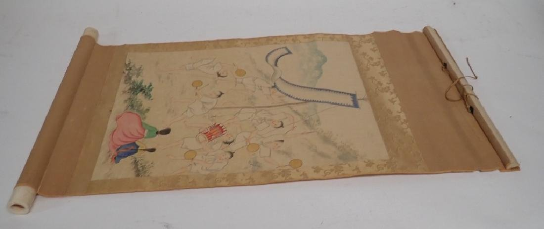 Asian Figural Scroll Painting - 3