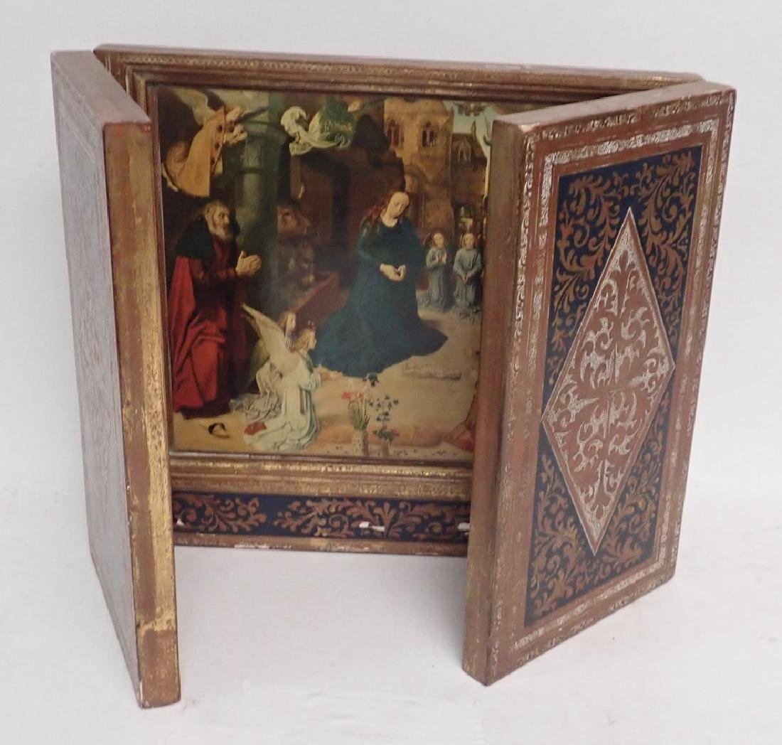 Vintage Religious Triptych of Nativity - 10